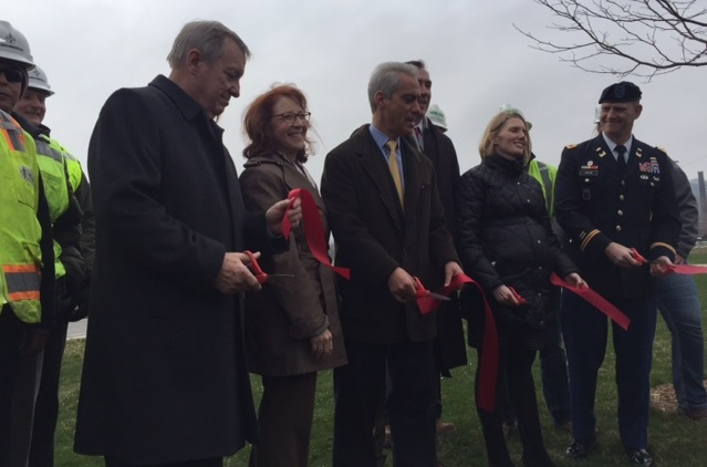 Revetment ribbon cutting